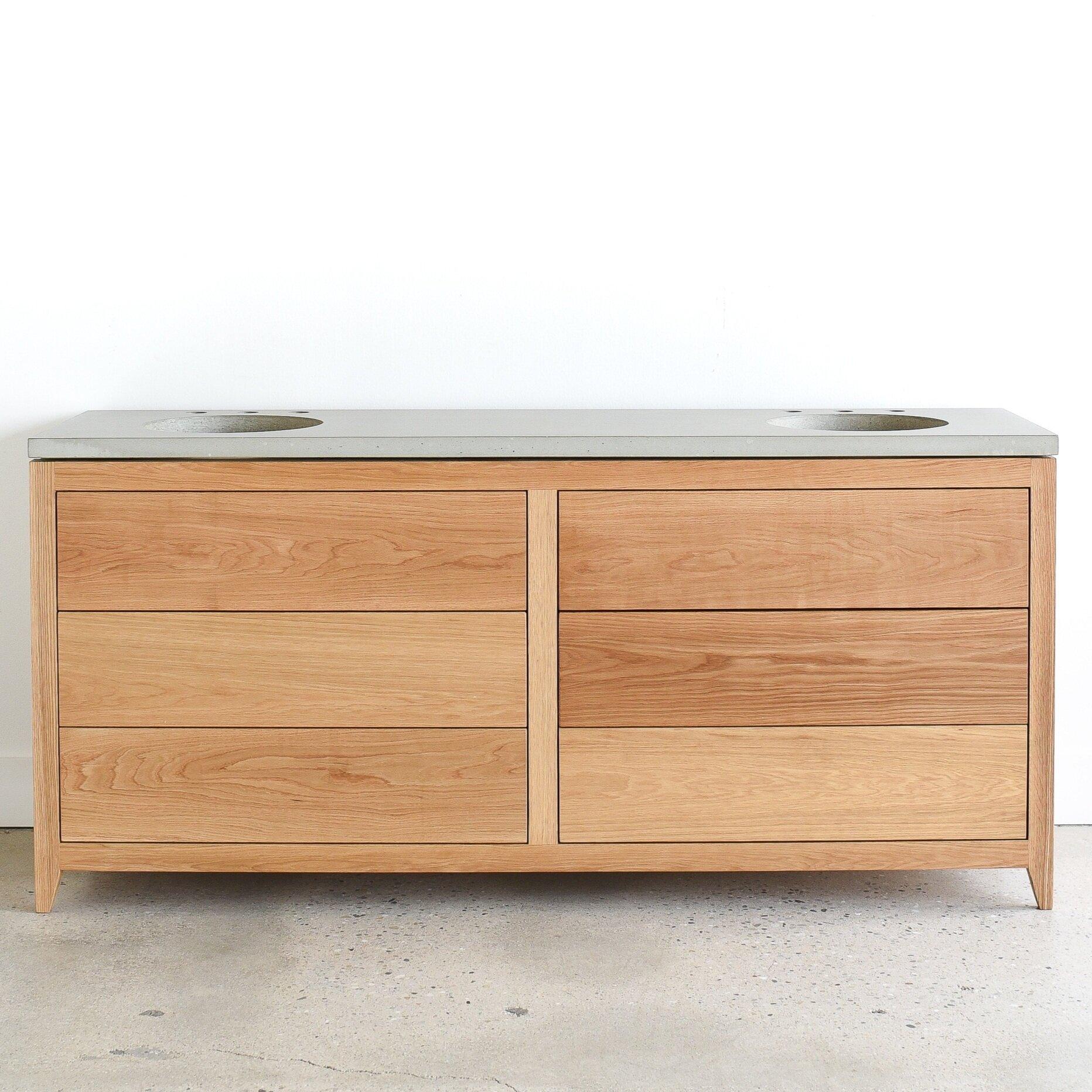 Mid Century Modern Double Sink Vanity What We Make