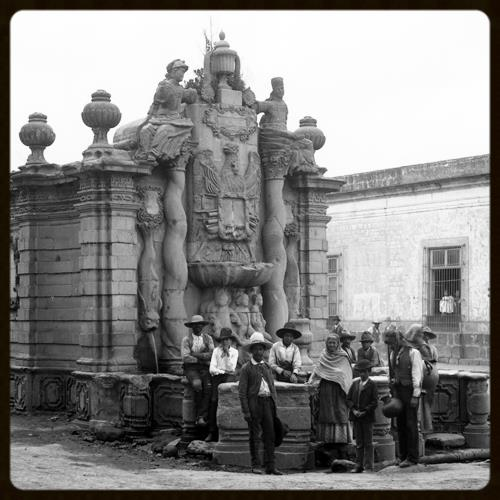 Fountain in Salto del Agua, Mexico, ca. 1880