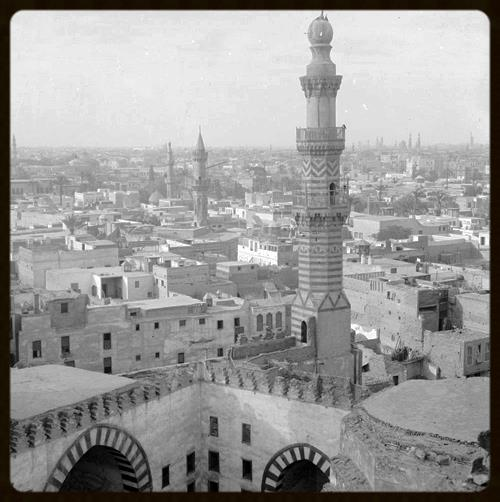 View of Cairo, Egypt from Mosque of Ibn Touloun, ca. 1900