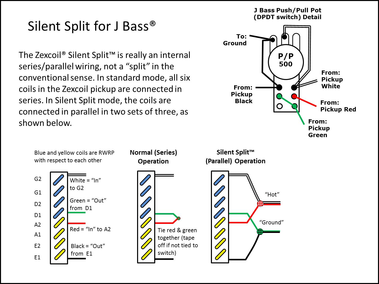 Silent Split™ Wiring for J Bass®