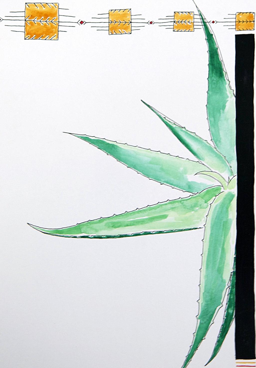 heal me a pattern \\ 11x15mixed media on paper  #mysortofgreenthumb   >> S H O P <<