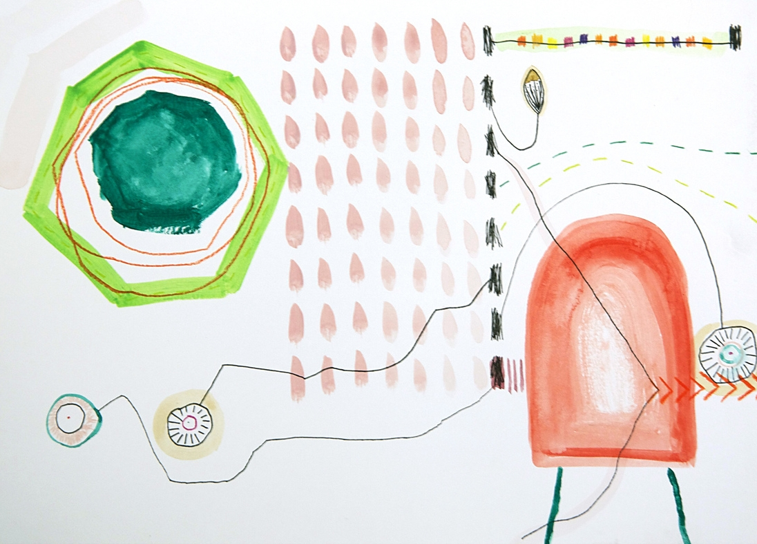 harvesting my rainbow carrots \\ 11x15mixed media on paper  #scribblestories   >> S H O P <<