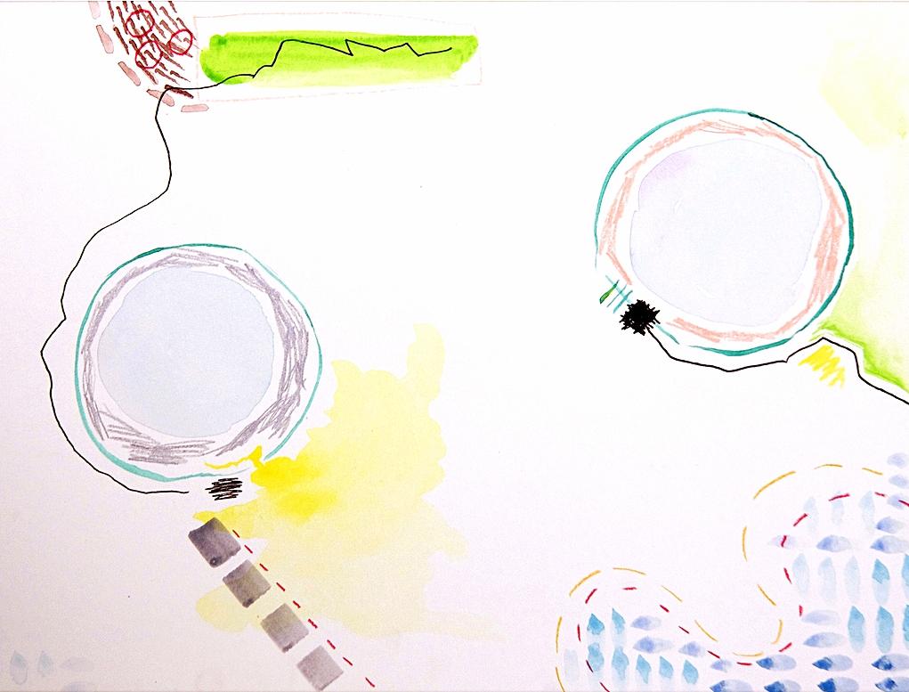 beach cruising' \\ 9x12 mixed media on paper #scribblestories   >> S H O P <<