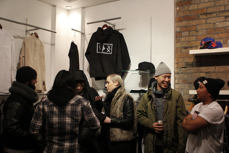 Jefford and myself at the first NTHNG x Community 54 Popup Shop in Toronto. Photo courtesy of Eric Ing.
