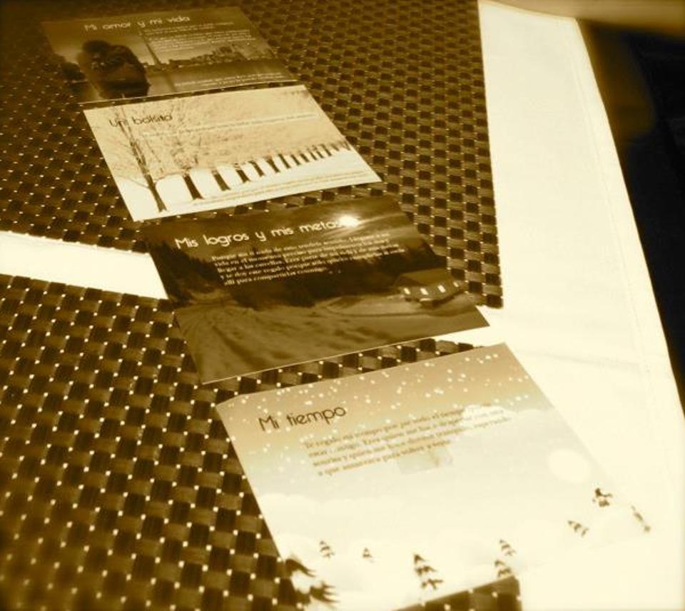 Os cartões que Jimmy fez para Ana para o presente de Natal e pedido de casamento!