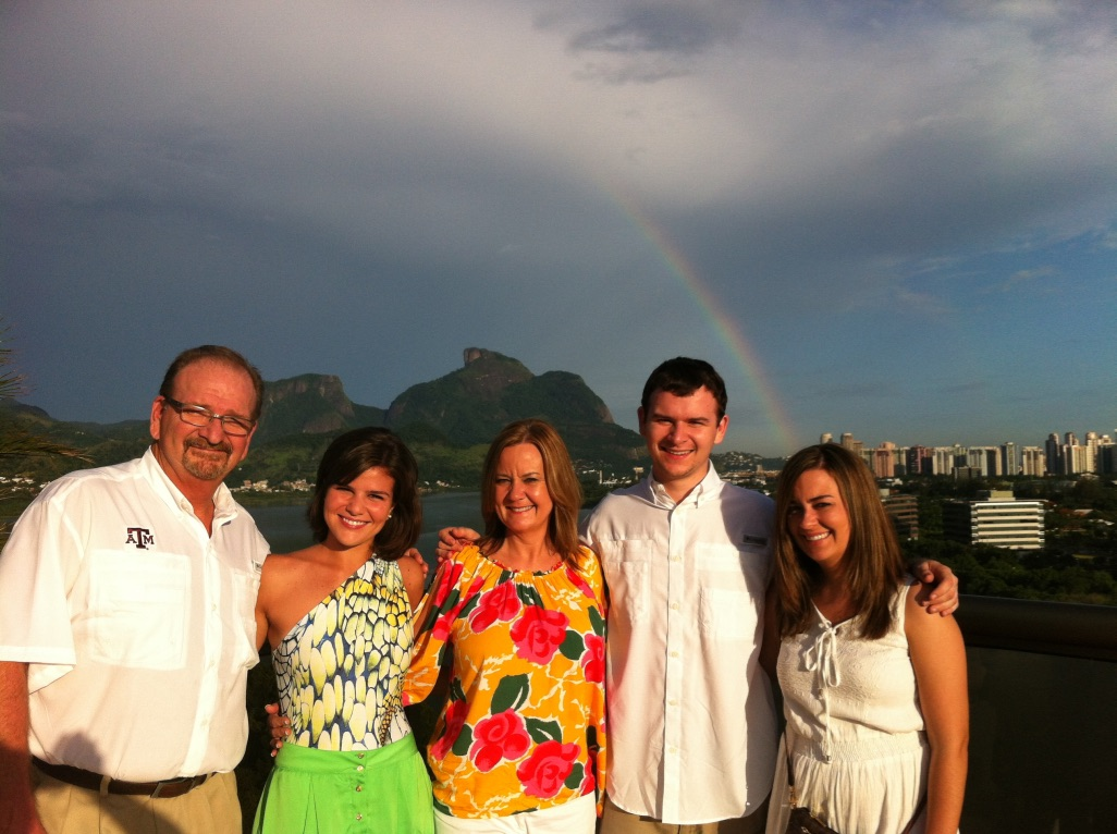A família americana de Manuela em uma das visitas ao Rio