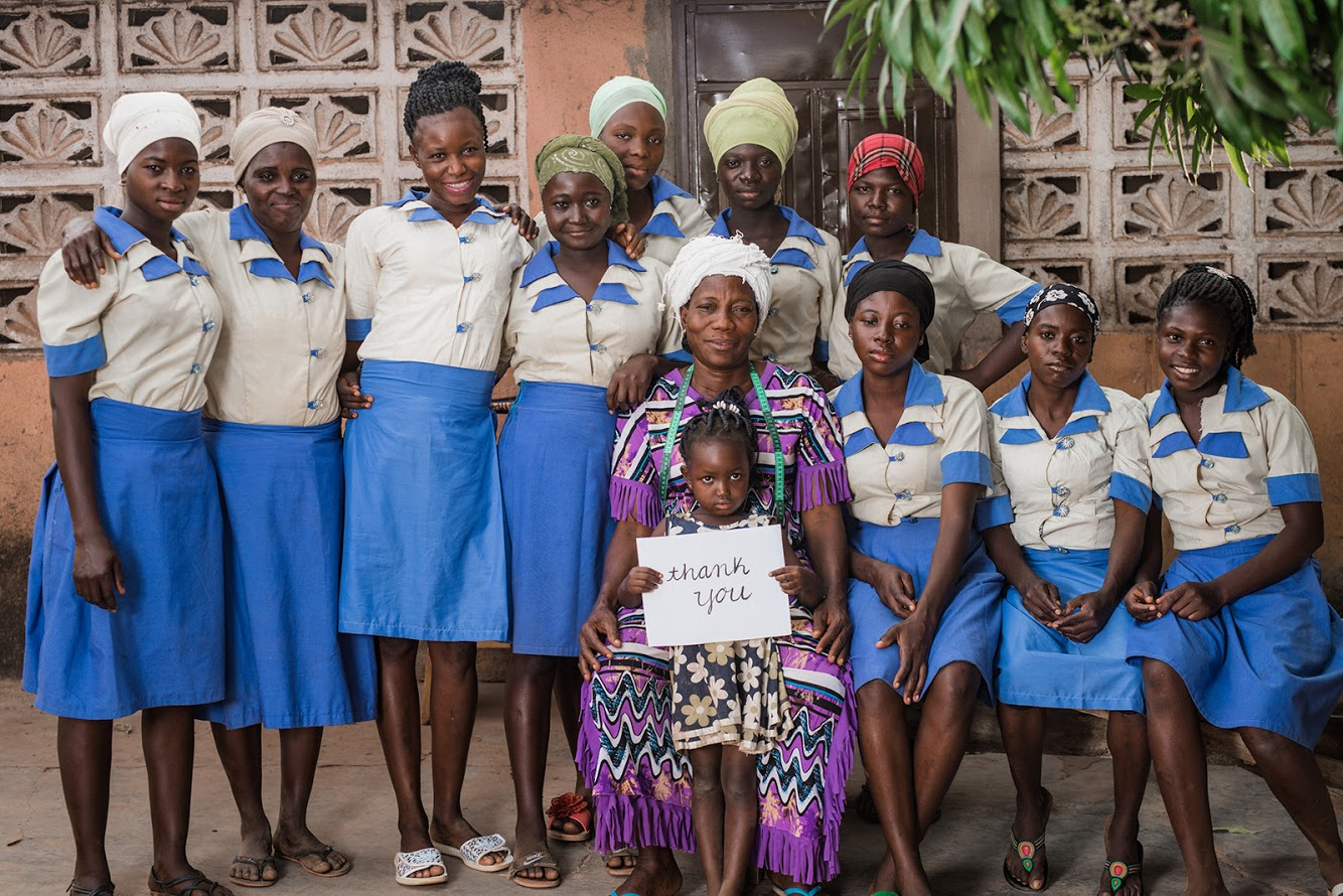 "By Grace Ghana class of 2018. Our women say, ""We pray that God richly blesses the person who did this."" Thank you for giving!"