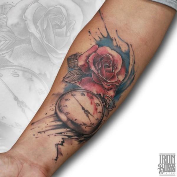 realistic+clock+rose+realism+watercolour+aquarelle+painting+tattoo+design+by+best+tattoo+artist+in+mumbai+from+best+tattoo+parlour+in+india+iron+buzz+tattoos+mumbai.jpg