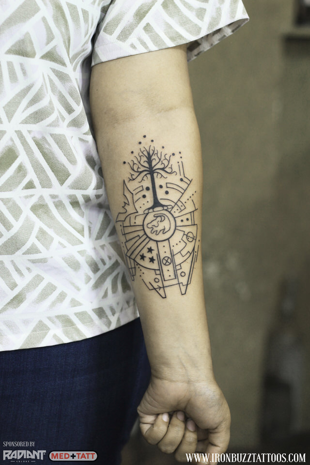 24 Dazzling Lineart Dotism Tattoos Done By Jayesh At Iron