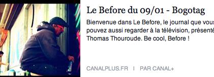 Before du Grand Journal, 2014
