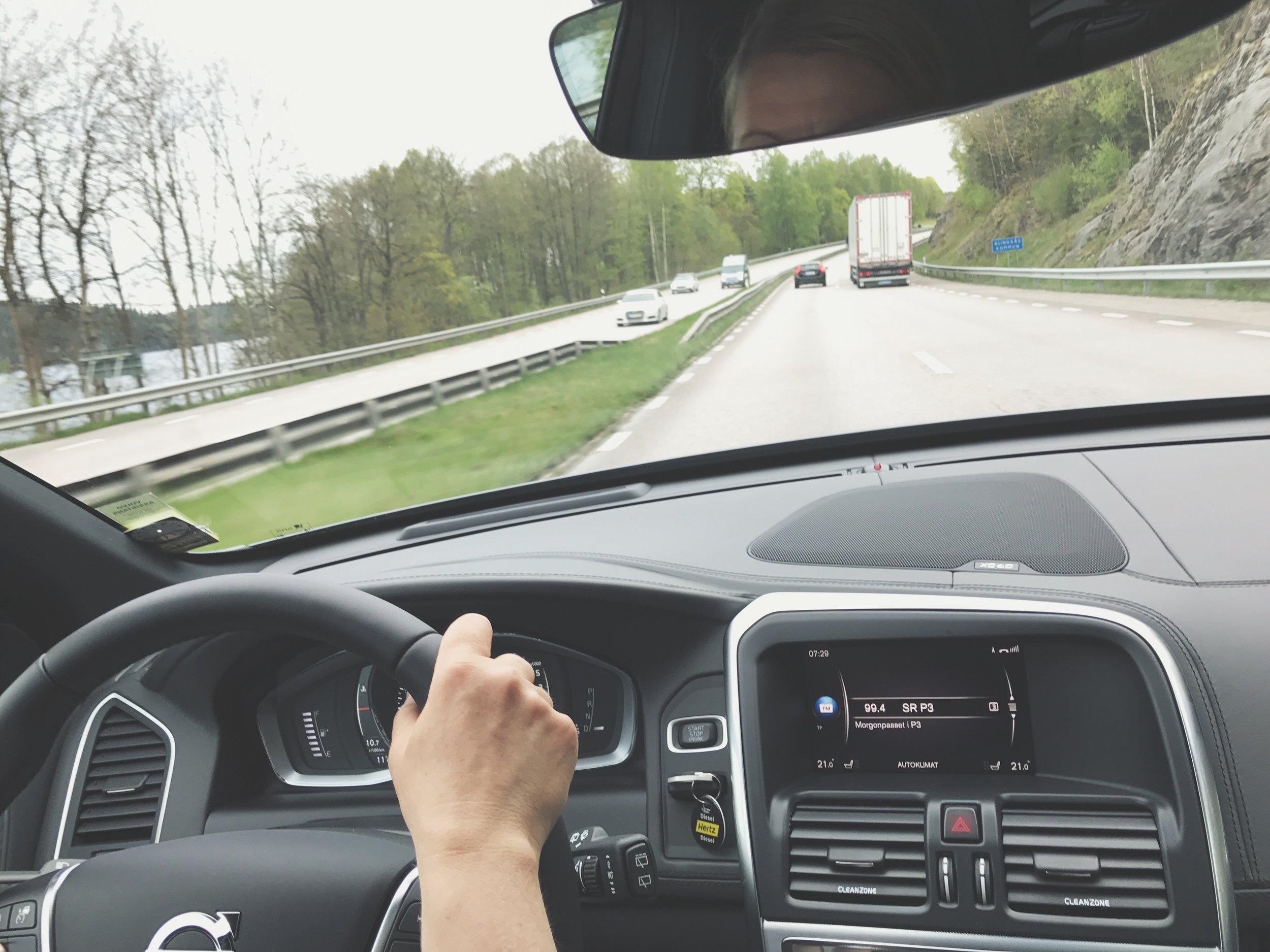 Vi hade ca 80 mil bilkörning mellan Göteborg och Västerås.