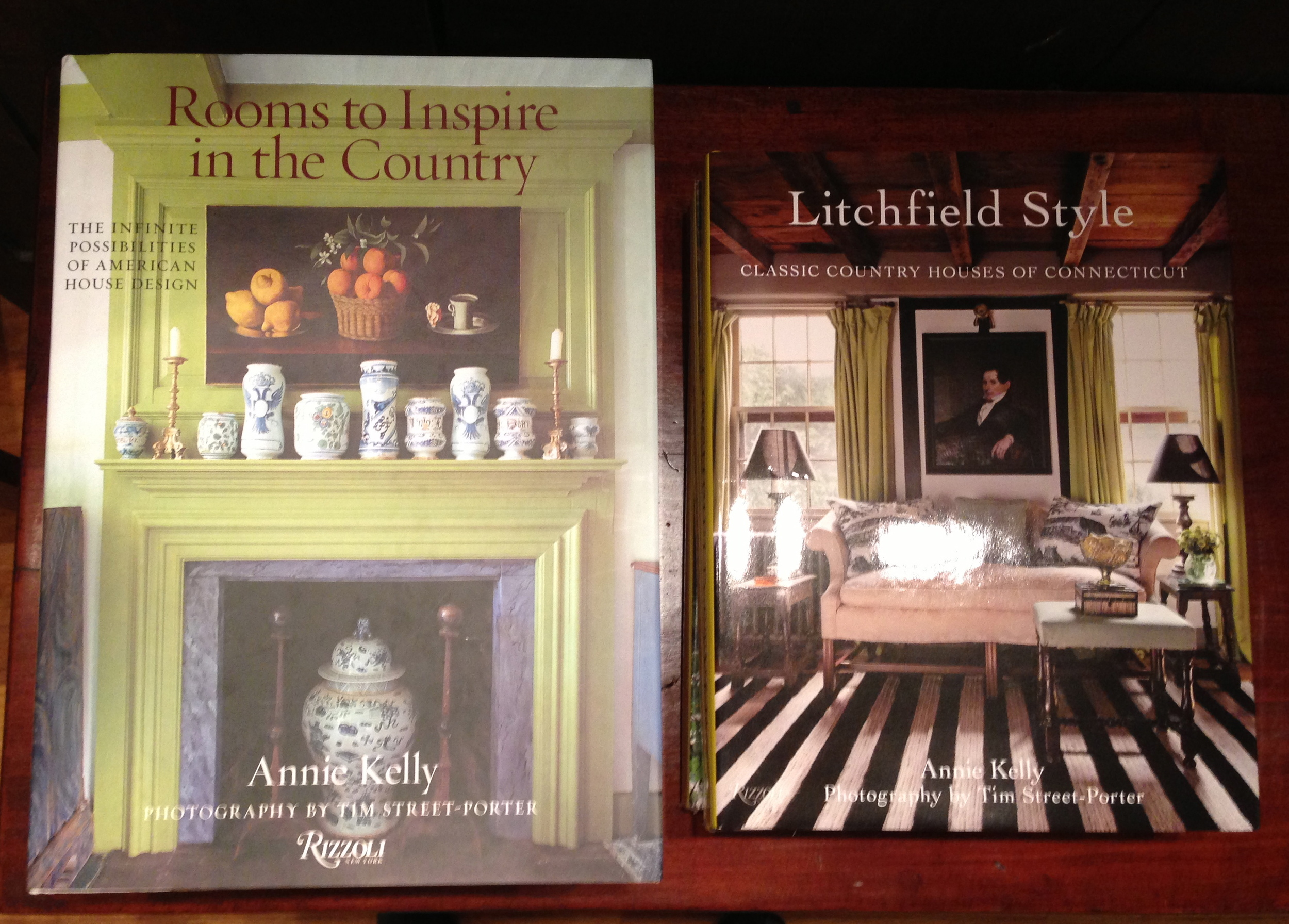 Two of the fabulous design books written and photographed by husband and wife team,Annie Kelly and Tim Street-Porter