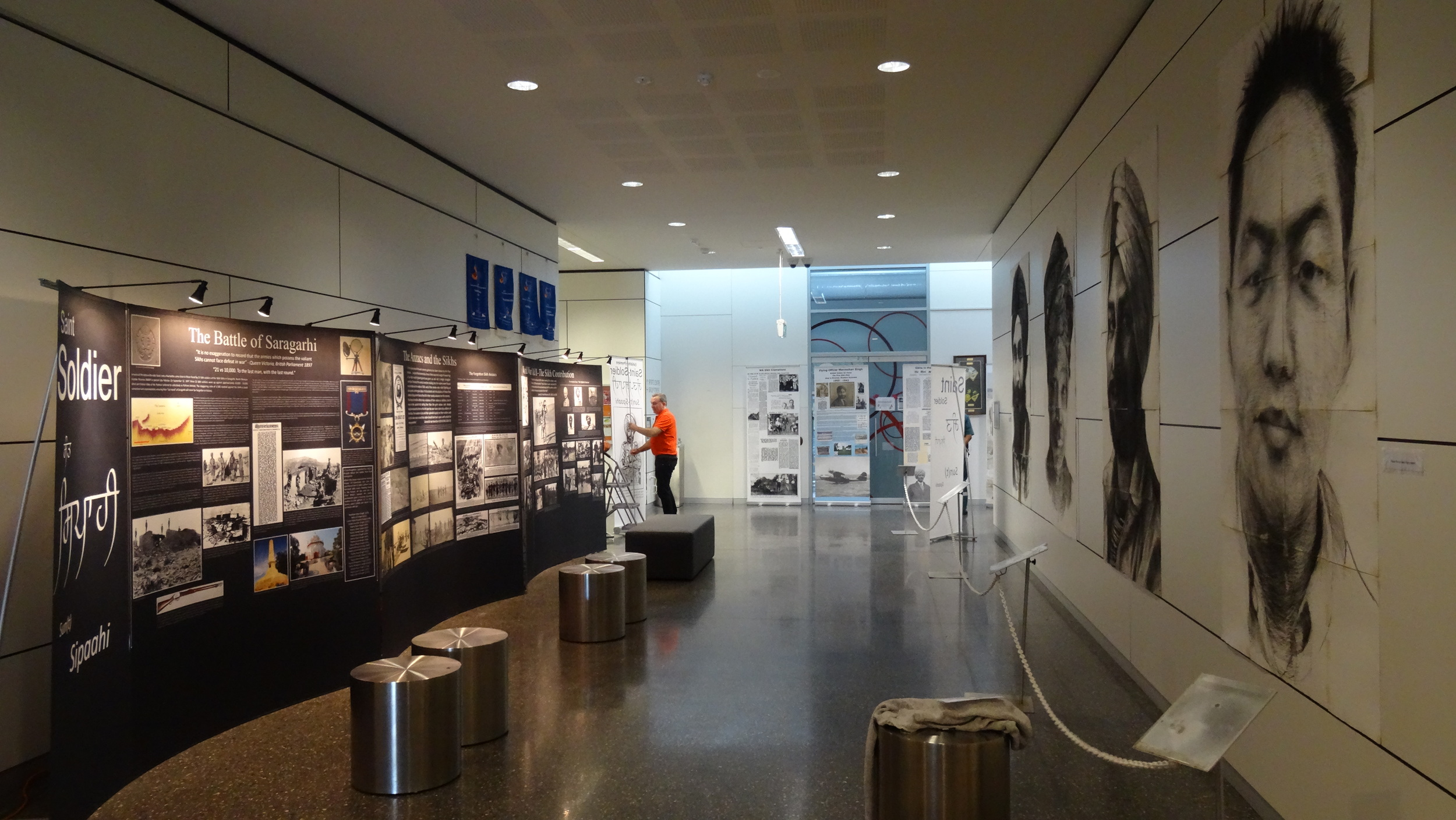 Australian Sikh Heritage Exhibition (left) and Daniel Connell's Exhibition (right)