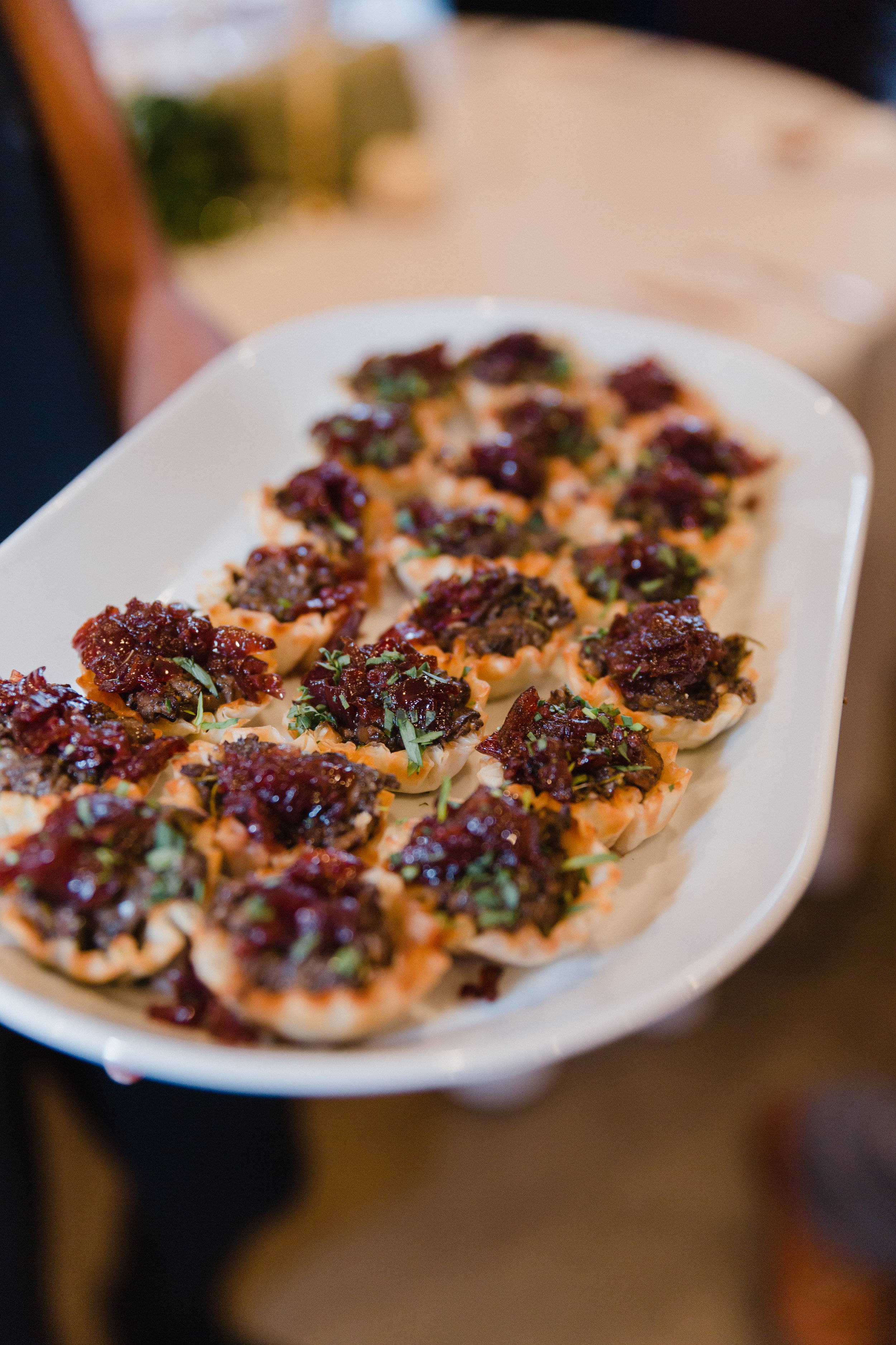 Mixed Mushroom Tartlette with Red Onion Marmalade