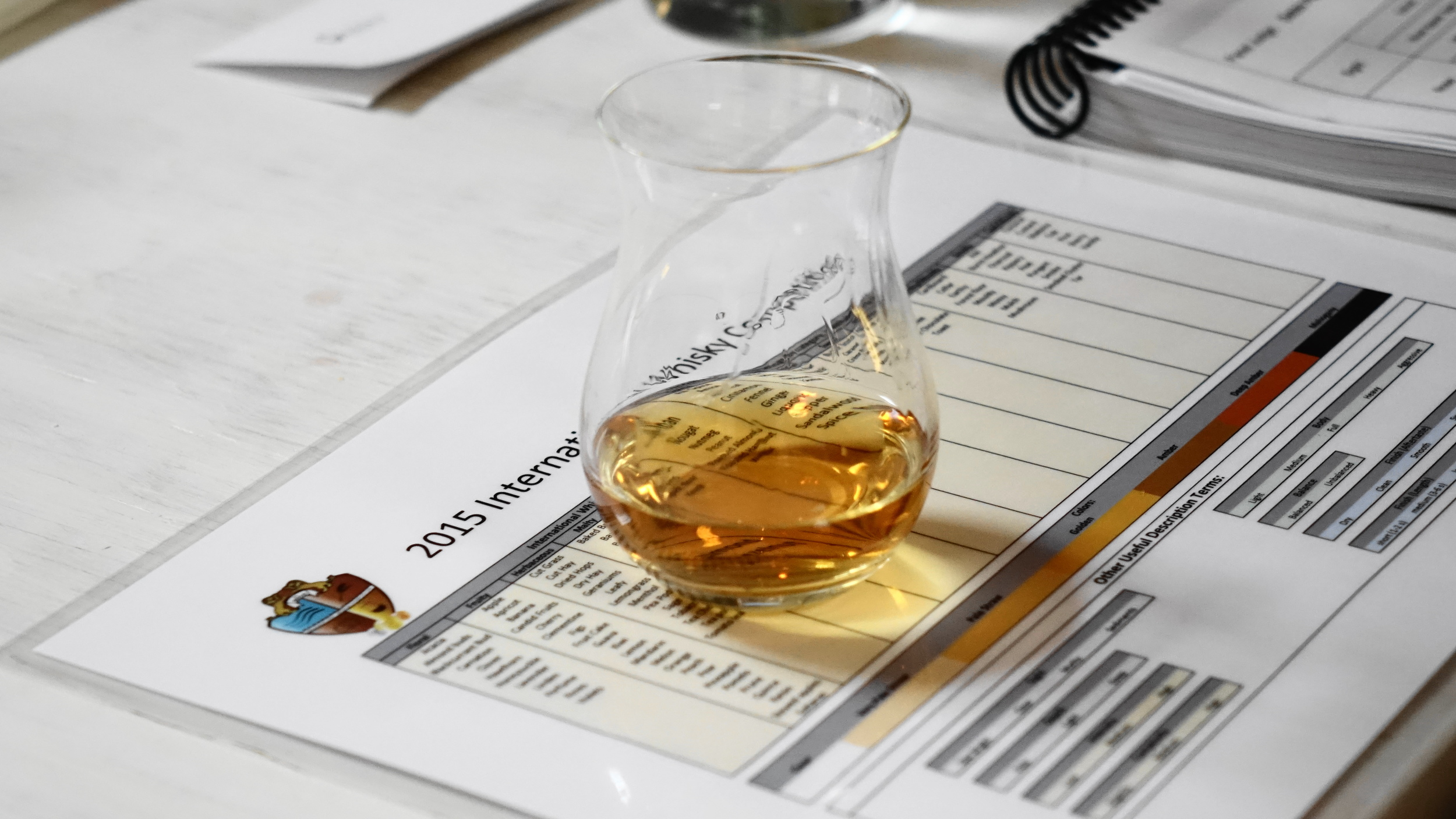 Tasting Chart - 2015 International Whisky Competiton