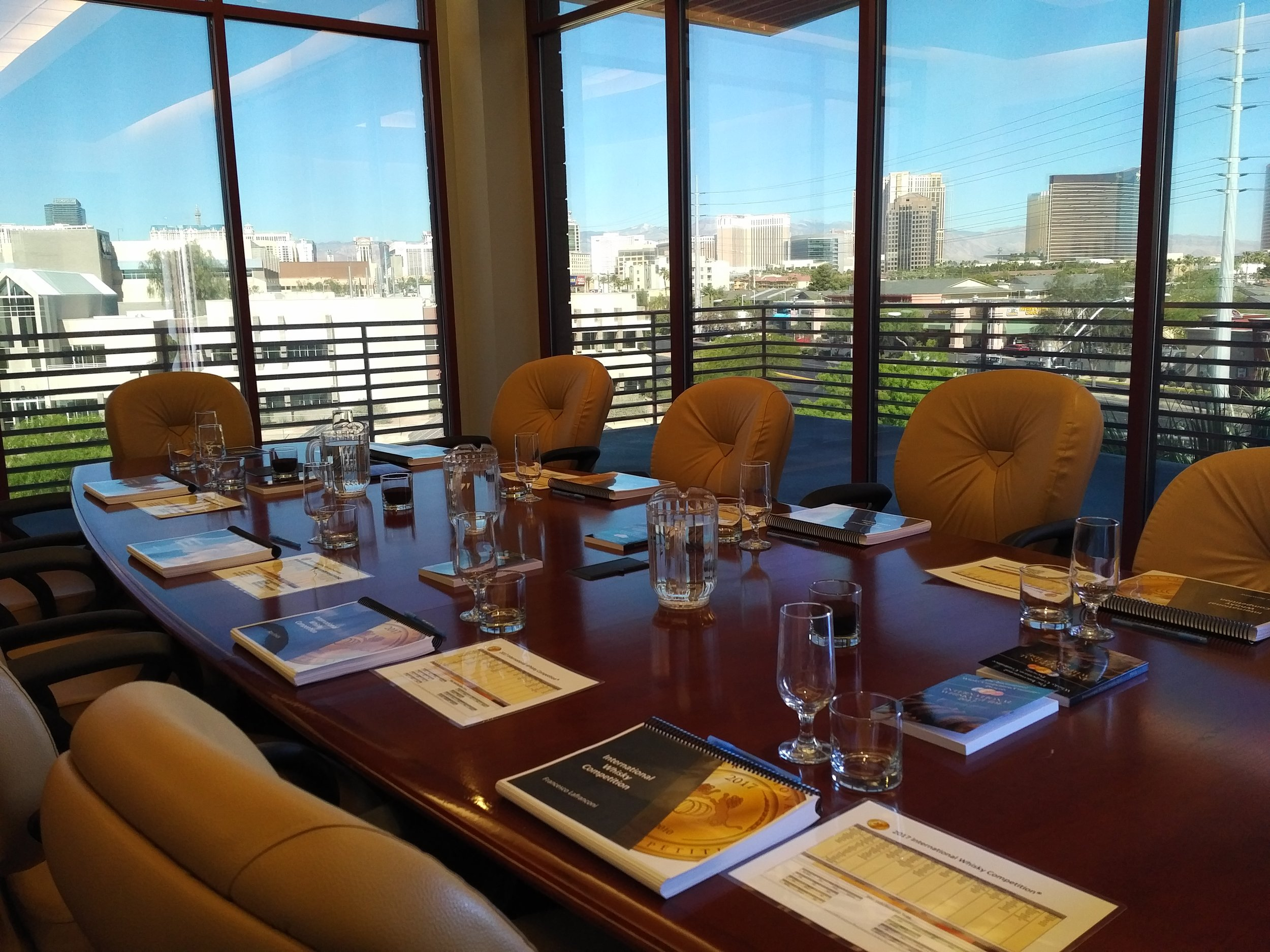 The tasting boardroom