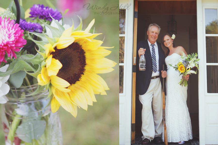 Mid Coast Maine Wedding Photographer Bride and Dad shotgun wedding.jpg