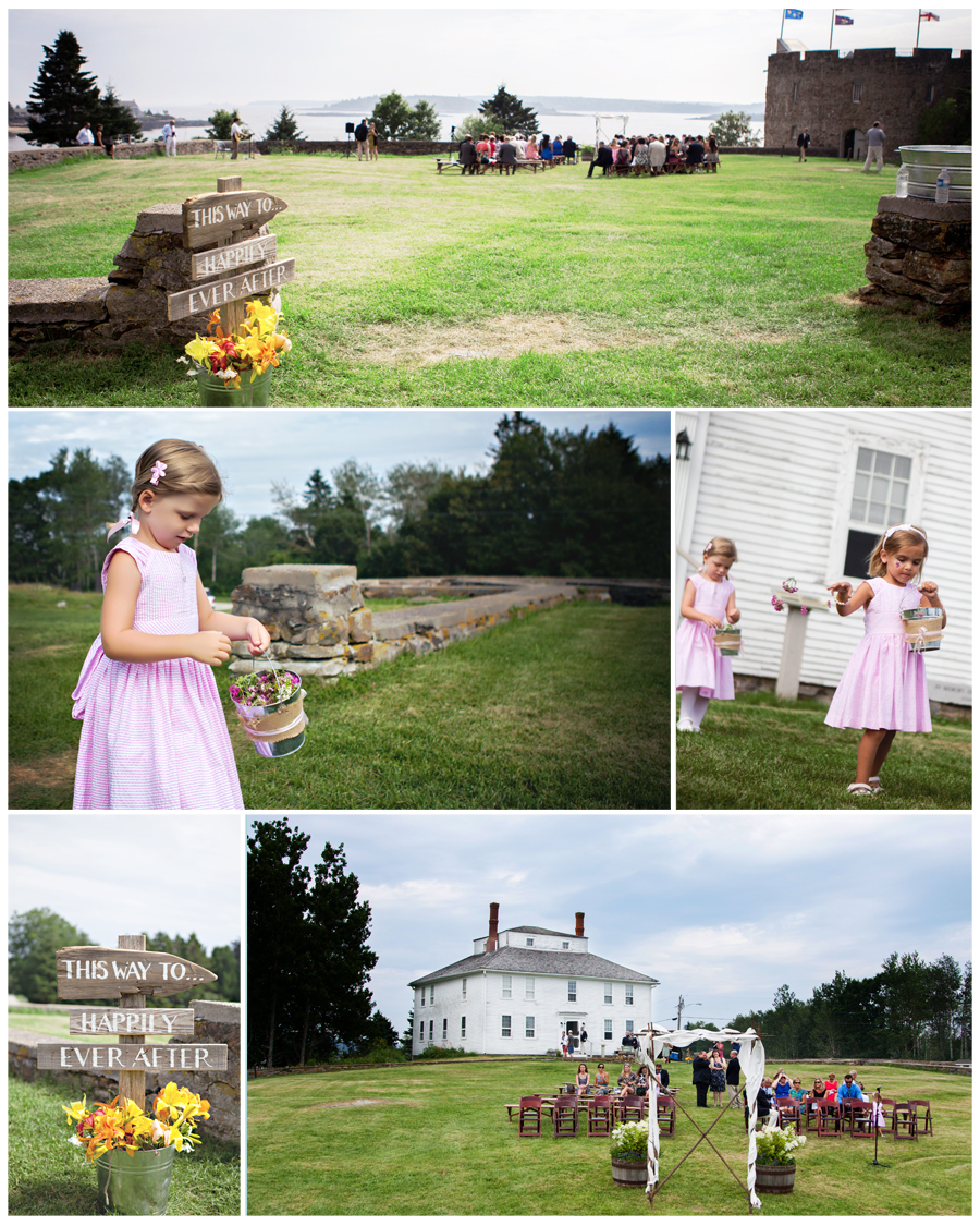 Maine Wedding Photographer happily ever after flower girls in pink.jpg