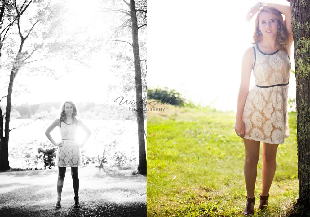 Midcoast Maine Senior Photographer hazy sun lace dress woods lake.jpg