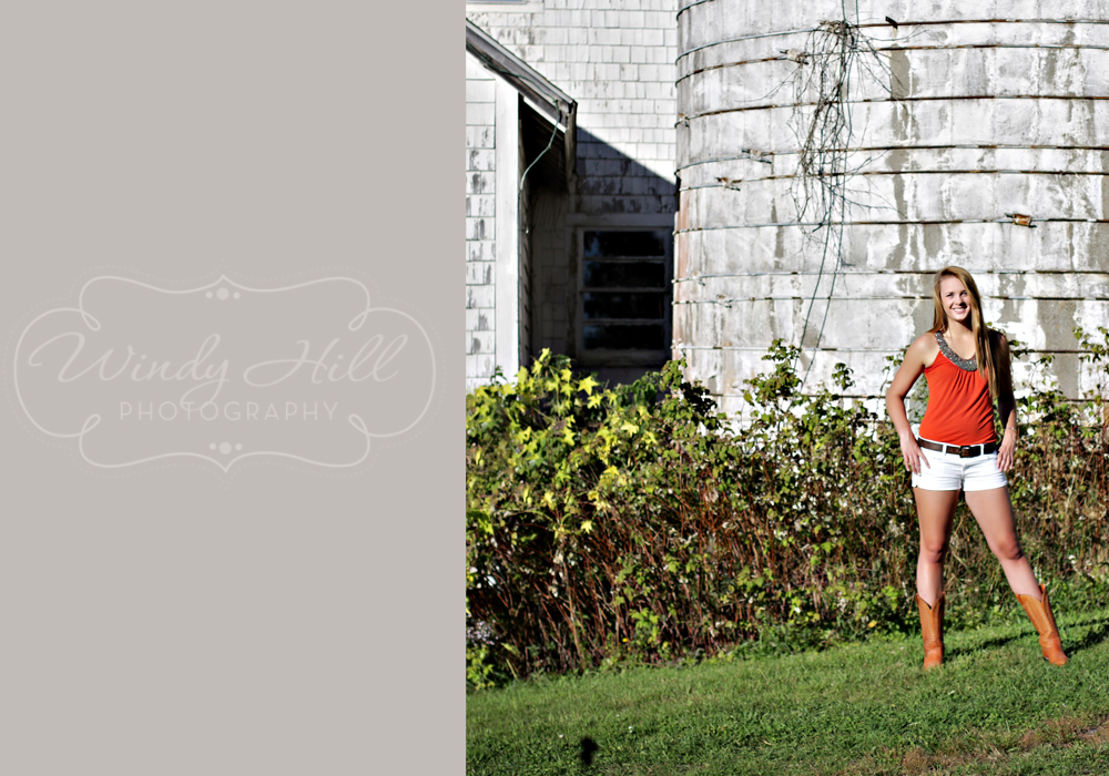 Maine Senior Photographer cowboy boots and silo.jpg