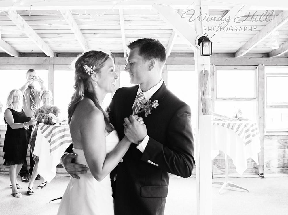 Maine Wedding Photographer Bride Looks at Groom First Dance.jpg