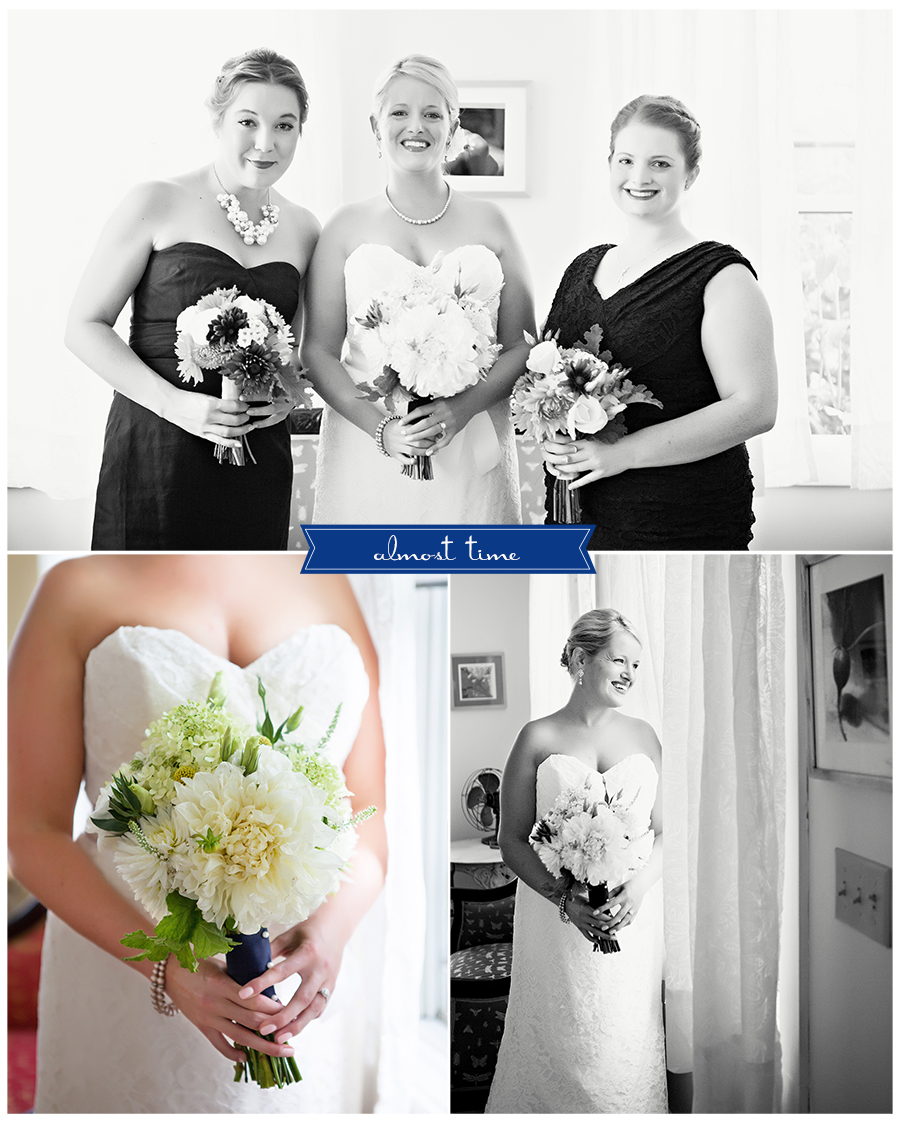 Maine Wedding Photographer bride and her girls dahlias vintage.jpg