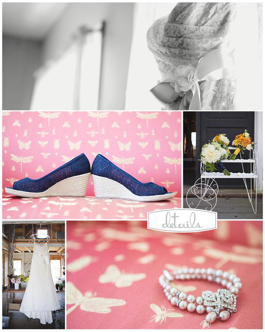 Maine Wedding Photographer Broadturn Farm lace dress flowers.jpg