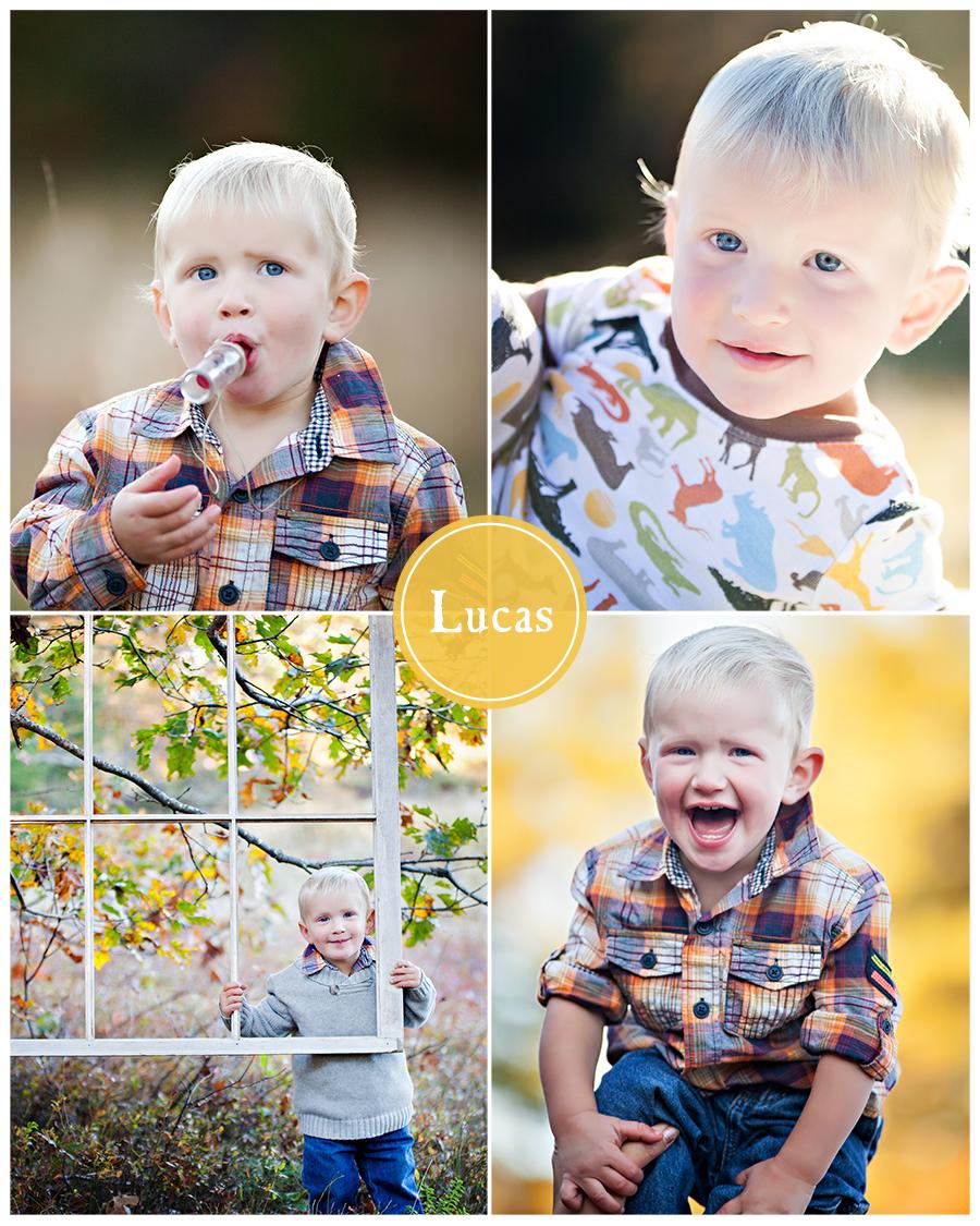 Maine Family Photographer little boy field fall sweater duck call.jpg