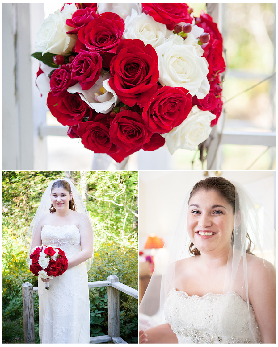 Maine Wedding Photographer the bride Hotel Pemaquid classic rose bouquet.jpg