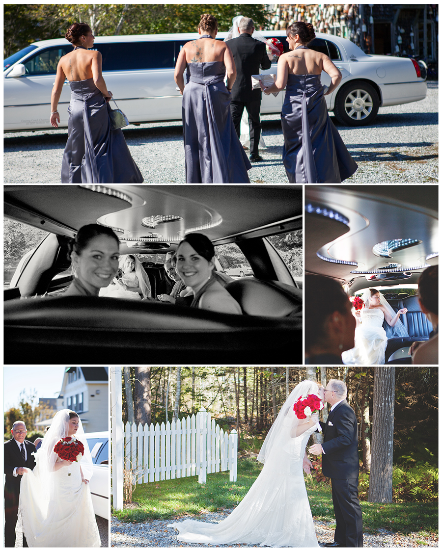 Maine Wedding Photographer limo country couch charters dad sees daughter first time.jpg