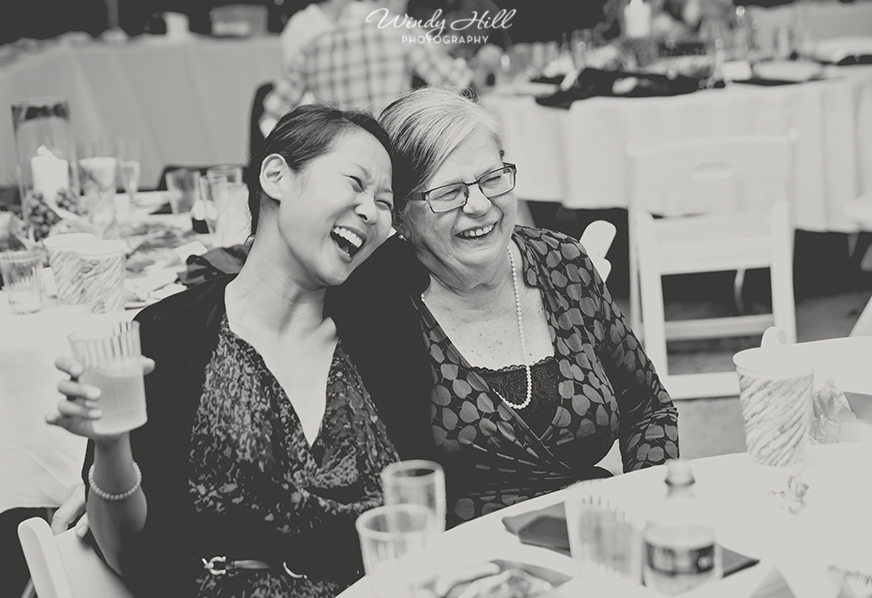 reception love and laughter New Hampshire wedding photographer