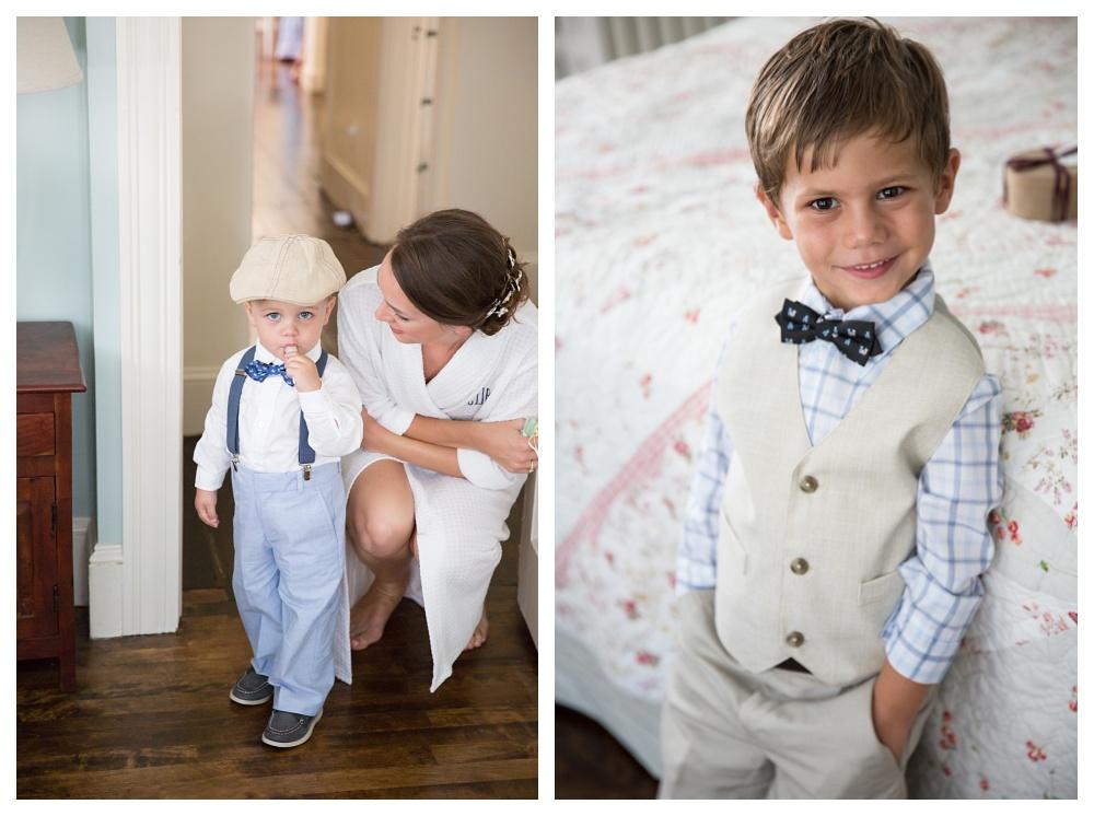 Maine Wedding Photography Ring bearers bowties