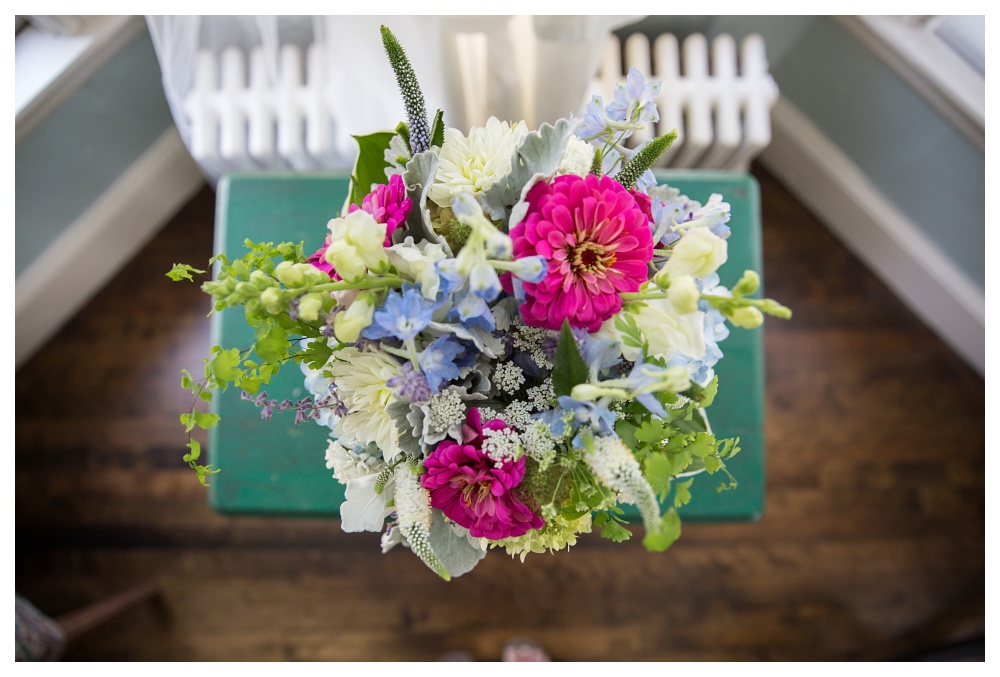 Maine Wedding Photography Flowers pink blue white