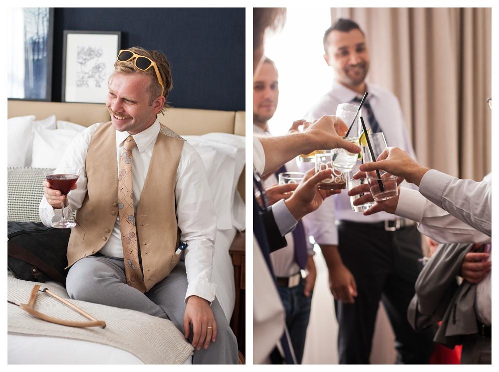 Maine Wedding Photographer drinks with the guys