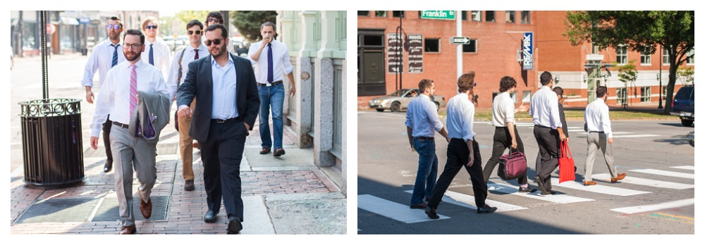 Maine Wedding Photographer guys walking to ceremony