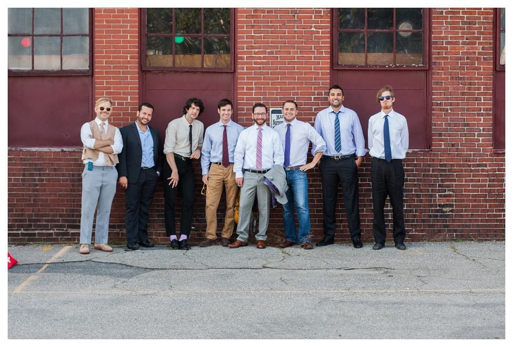 Maine Wedding Photographer groom and friends