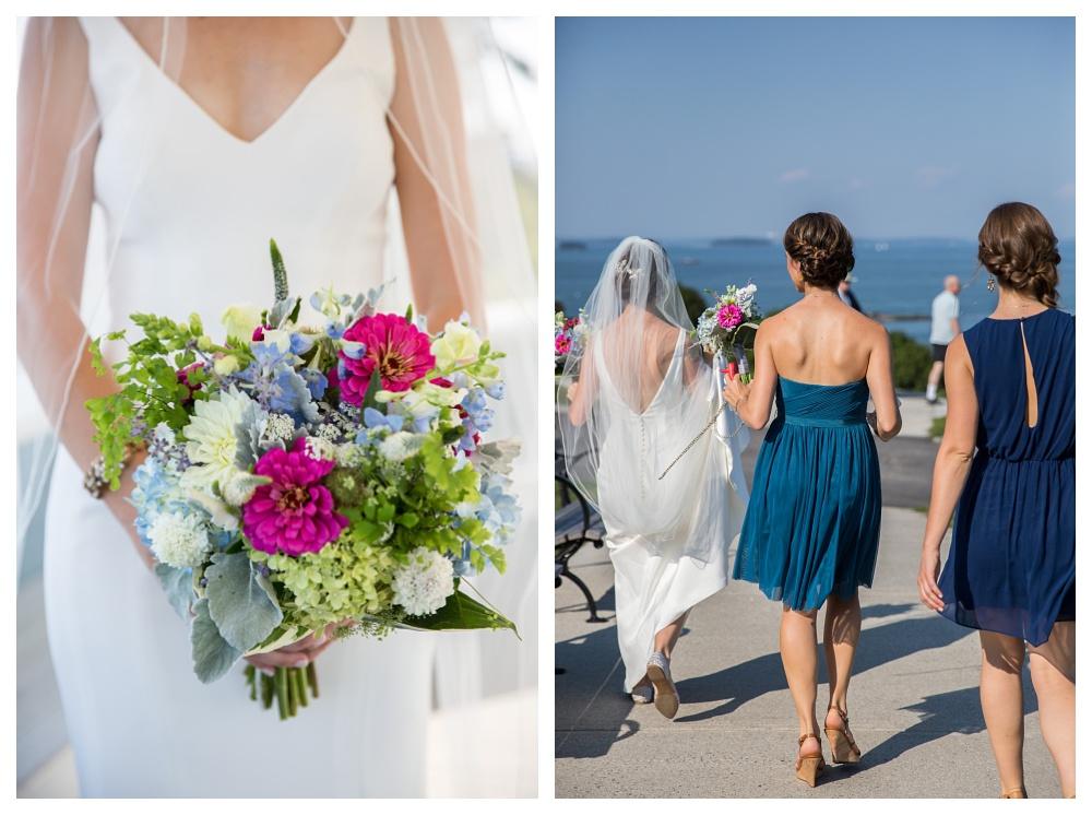 Maine Wedding Photography girls walking to train