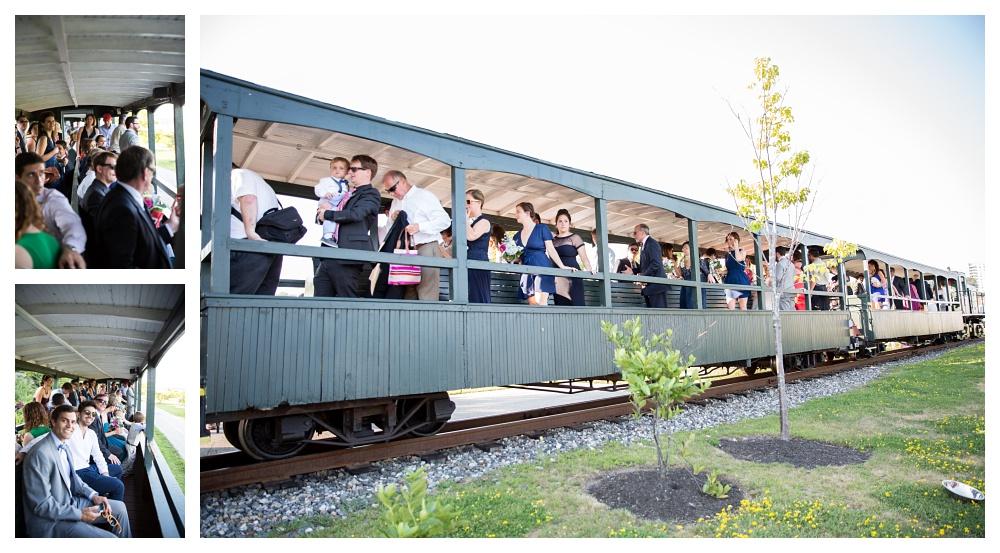 Maine Wedding Photographer Train exit