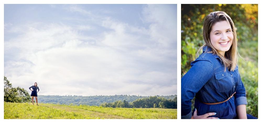 Maine Senior Photographer class of 2016 Damariscotta river association field and sunshine