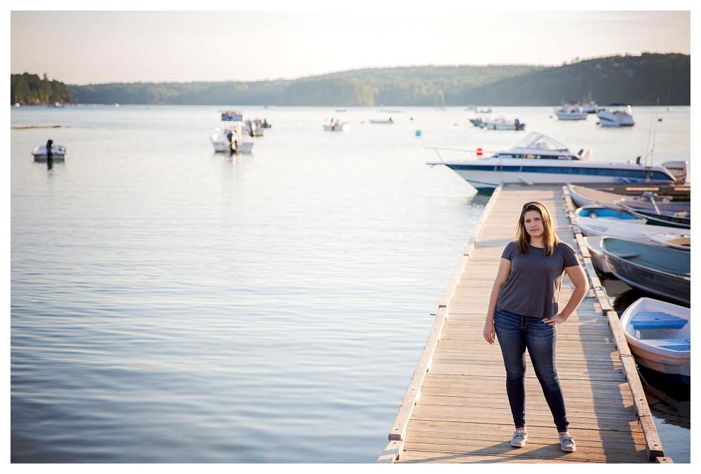 Maine Senior Photographer Damariscotta 2016 sunset boats