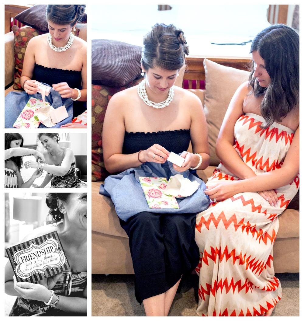 Maine Wedding Photographer Bethel bridesmaids gifts