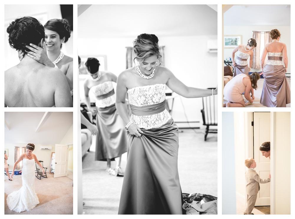 Maine Wedding Photographer Bethel Bridesmaids getting ready