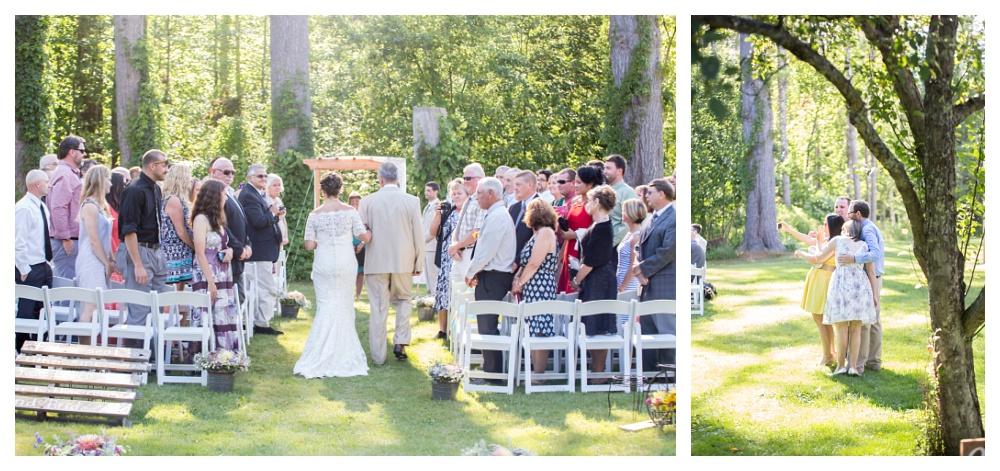 Maine Wedding Photographer Bethel Outside Ceremony