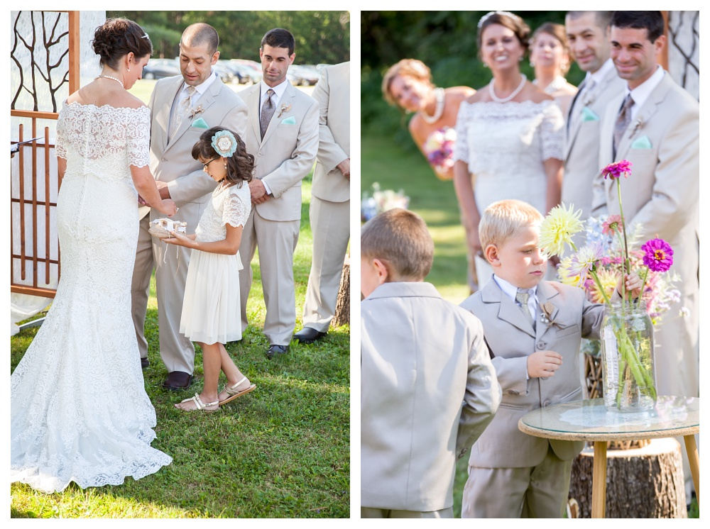 I love that Keith and Charity included the kids in their ceremony with this special little flower ceremony.