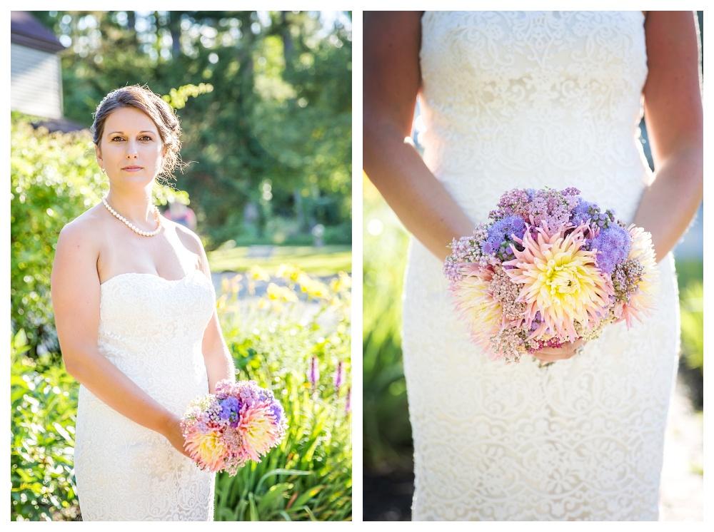 Maine Wedding Photographer Bethel Bridal Portraits wildflowers