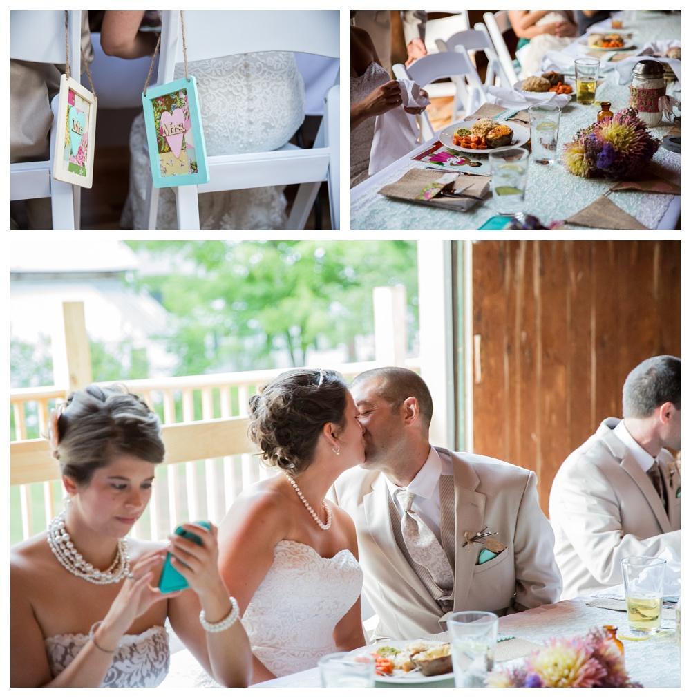 Maine Wedding Photographer Bethel reception details