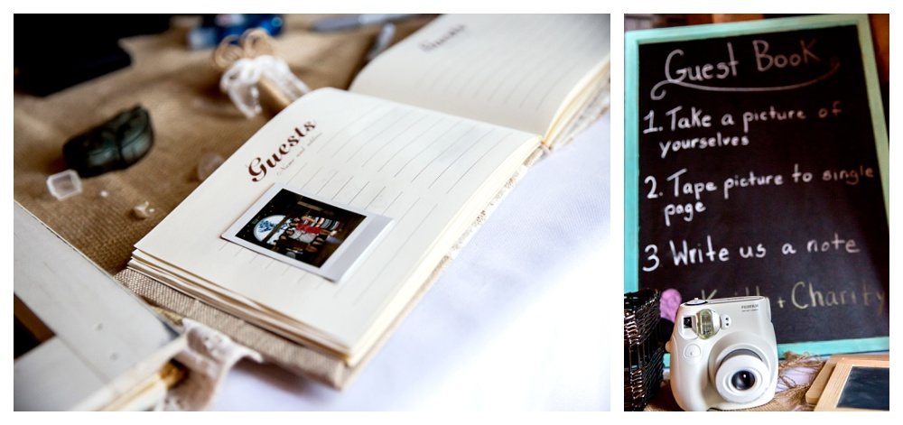 Another great DIY idea! A small instax camera for guests to take photos of themselves and then stick into your guest book with a message to the newlyweds.