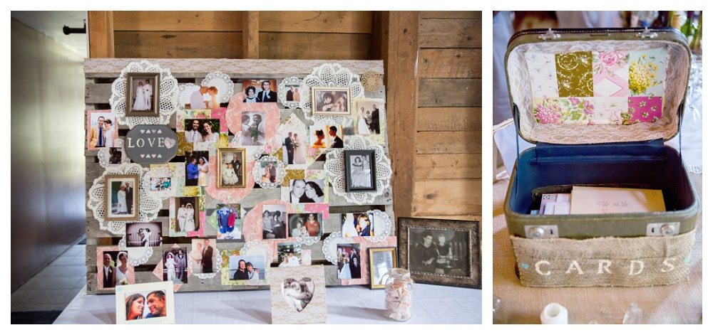 Charity and Keith did a beautiful job of both personalizing their reception and creating a theme that was simply beautiful. Yet another great DIY idea.. a pallet covered with photos of your family and their moments as couples, showing the love that brought you both to this moment!