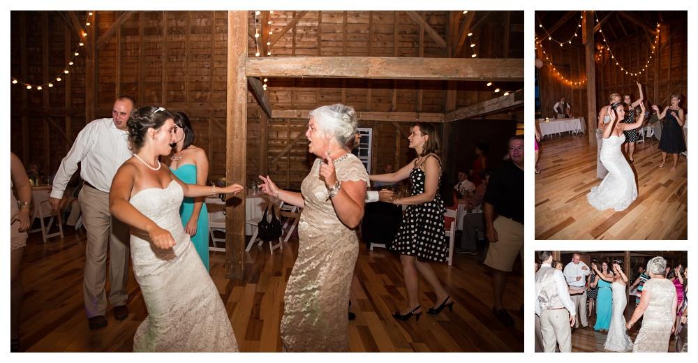Maine Wedding Photographer Bethel Barn Venue 1888 bride dancing