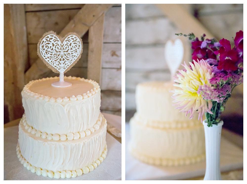 Maine Wedding Photographer Rustic Cake